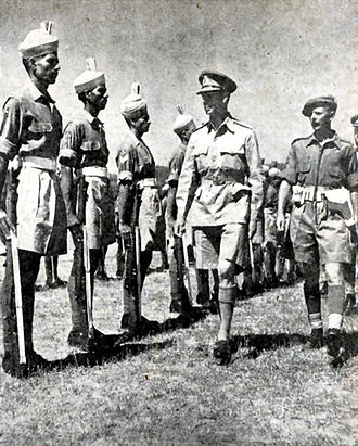8th Punjab Regiment - King George VI inspecting 3/8th Punjab, Siena, Italy, 26 July 1944.