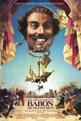 The Adventures of Baron Munchausen - Theatrical release poster by Lucinda Cowell