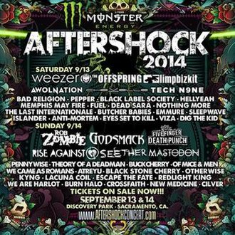 Aftershock Festival - Aftershock 2014 Line-up