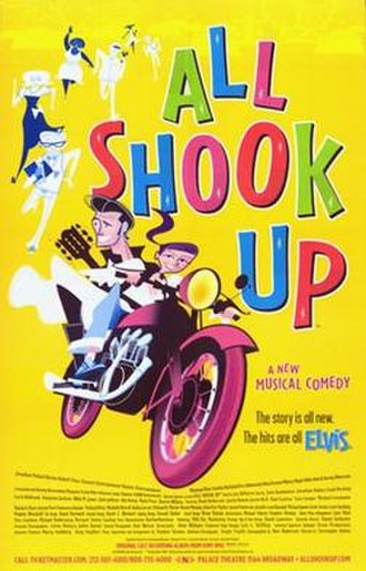 All Shook Up (musical) - Promotional poster for original Broadway production of All Shook Up