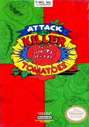 Attack of the Killer Tomatoes (1991 video game) - Cover art