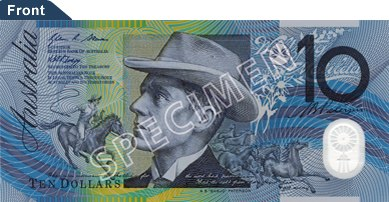 Australian $10 polymer front