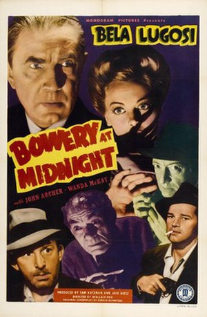 Bowery at Midnight - theatrical release poster