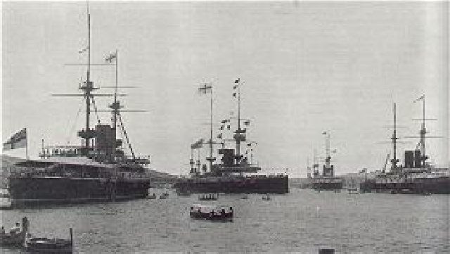 British warships, Malta 1902