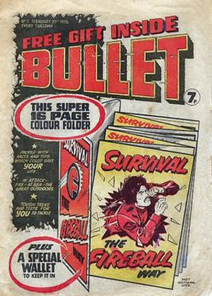 Bullet (DC Thomson) - The 2nd issue of Bullet included a free gift - a survival guide.