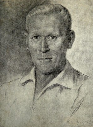 Buster Lloyd-Jones - An illustration of Buster Lloyd-Jones by Stella Mackies Cox.