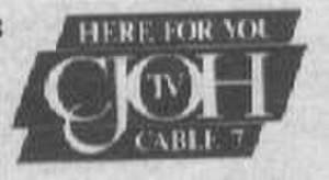 "CJOH-DT - CJOH-TV's logo from 1994 with its former slogan ""Here for you""."