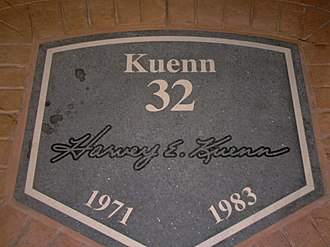 Miller Park Walk of Fame - Harvey Kuenn's plaque on the Brewers Walk of Fame
