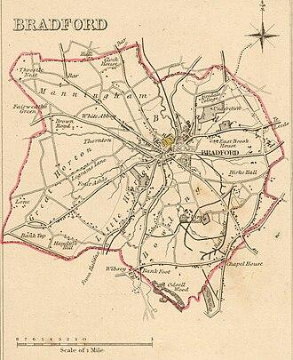 Bradford - Bradford Boundaries 1835.