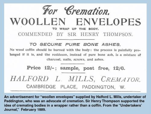 Cremation advertisement 1889