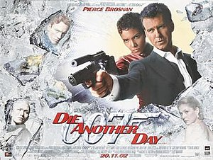 Die Another Day - British cinema poster for Die Another Day, designed by Intralink Film Graphic Design