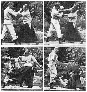 Kyushin Ryu - Eguchi Shihan demonstrating a jujutsu takedown technique
