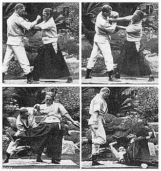 Kyushin Ryu - Eguchi Shihan demonstrating a jujutsu takedown technique