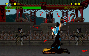 "Fighting game - The player's objective in a fighting game is to win a match by depleting their rival's health. Mortal Kombat even allows the victor to perform a gruesome finishing maneuver called a ""Fatality"""
