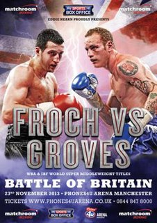 Carl Froch vs. George Groves Boxing competition