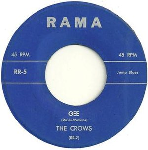 Gee (The Crows song) - Image: Gee the Crows 1953