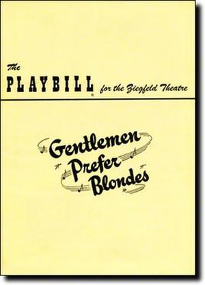 Gentlemen Prefer Blondes (musical) - 1949 Broadway Playbill