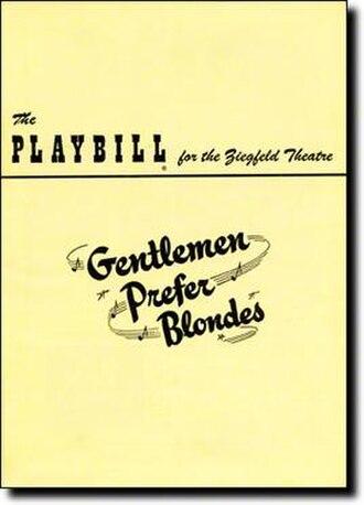 Gentlemen Prefer Blondes (musical) - 1949 Broadway Playbill
