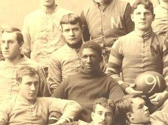 George Jewett - George Jewett in 1890 Michigan team photograph