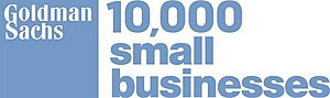 10,000 Small Businesses - Image: Goldman Sachs 10,000 Small Businesses Logo