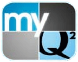 "KZJO - Logo as ""myQ²"", used from 2006 to 2010."
