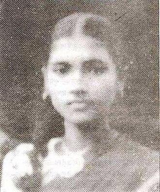 Kamala Bhattacharya - Kamala in her school uniform