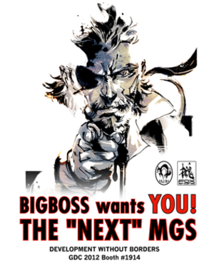 Metal Gear Solid V: The Phantom Pain - A recruiting poster, based on the famous recruitment poster, used at GDC 2012