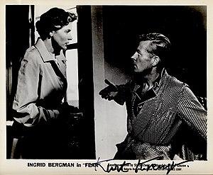 Kurt Kreuger - Ingrid Bergman and Kurt Kreuger in the film Fear, 1954