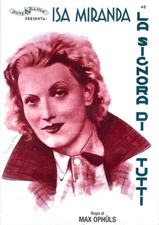<i>Everybodys Woman</i> 1934 film by Max Ophüls
