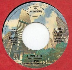 Limelight (Rush song) - Image: Limelight Single