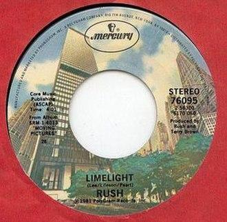 Limelight (Rush song) - Image: Limelight Single