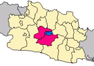 Bandung Metropolitan Area - Image: Locator bandung metro