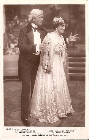 William Lugg - Lugg with Ellaline Terriss in The Gay Gordons (1907)