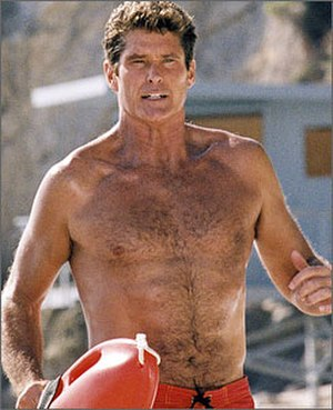 Baywatch - David Hasselhoff as the character Mitch Buchannon.