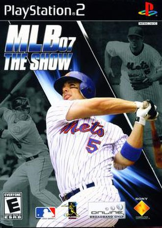 MLB 07: The Show - Cover art featuring David Wright