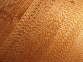 Wood grain - mountain ash floor, showing some fiddleback figure