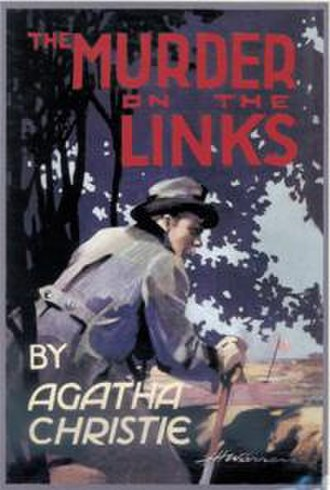 The Murder on the Links - Dustjacket illustration of the first British edition.