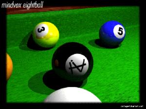 MindVox - MindVox promotional materials circa 1993. Phantom Access Technologies glyph on ray cast eightball.