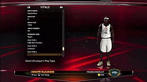 Career mode - The career mode in NBA 2K13 allows various vital statistics to be customized.