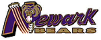 Newark Bears - The Bears' original primary logo, used from 1998 to 2004