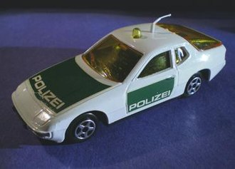 Norev - Norev Jetcar 1:43 Porsche 924 Polizei from the 1970s. Rear hatch opens. Front silver turn signals and rear tail light lenses are hand painted.