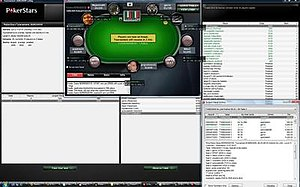 PokerTracker 3 includes a HUD overlay as seen ...