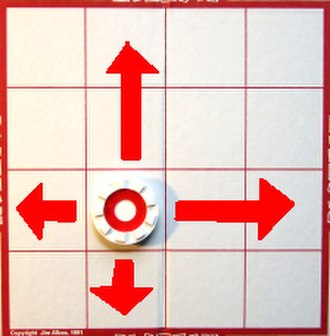 Plateau (game) - Red topped pieces move orthogonally