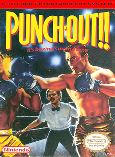 <i>Punch-Out!!</i> (NES) 1987 boxing sports fighting video game published by Nintendo