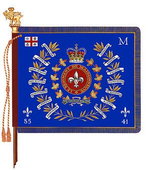 Le Régiment de Maisonneuve - The regimental colour of Le Régiment de Maisonneuve.