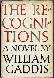 <i>The Recognitions</i> Novel by William Gaddis