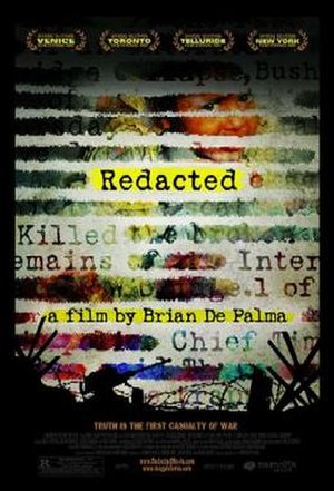 Redacted (film) - Theatrical release poster