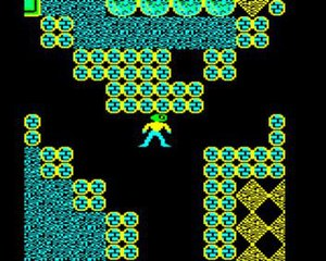 Repton (video game) - In game shot of the final level, Screen L (BBC Micro)
