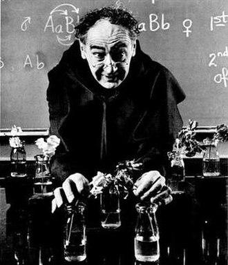 Richard M. Eakin - Eakin as Gregor Mendel, demonstrating genetic inheritance in pea plants circa 1974