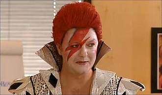 Golden Years (TV programme) - Gervais in character impersonating David Bowie